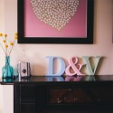 Classic Freestanding Painted Wooden Letters