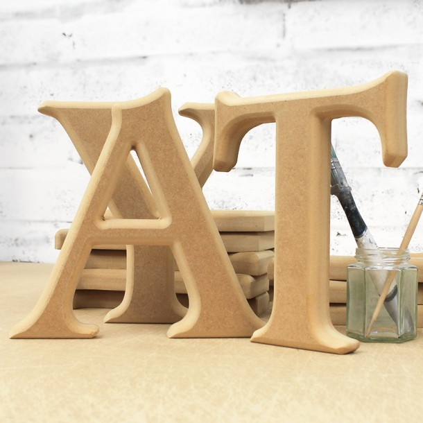 Unpainted freestanding letters rounded edge for Large freestanding wooden letters