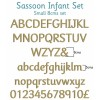 Sassoon Infant Wooden Letters Full Alphabet Set Small - 8cms