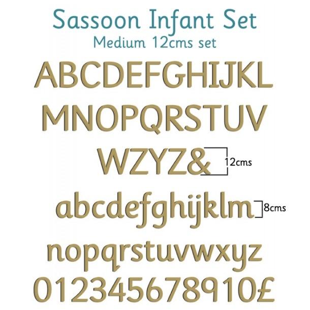 Sassoon Infant Wooden Letters Full Alphabet Set Medium - 12cms