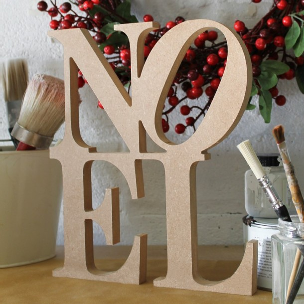 NOEL Christmas sign, unpainted