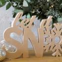 Let it Snow Christmas Letters, unpainted
