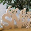 Let it Snow Christmas Letters, unpainted