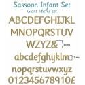 Sassoon Infant Wooden Letters Full Alphabet Set Giant - 16cms