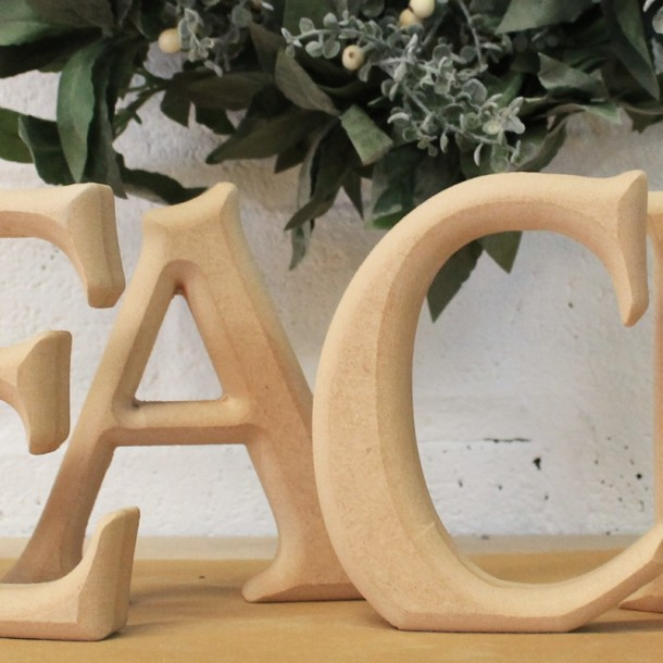 PEACE unpainted Christmas Letters