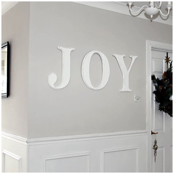 JOY Wall Letters, Distressed White