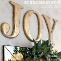 JOY Wall Letters, Distressed Gold