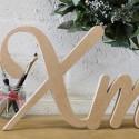 Script Xmas letters, unpainted