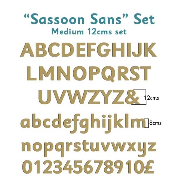 Sassoon Sans Wooden Letters Full Alphabet Set Medium - 12 cms