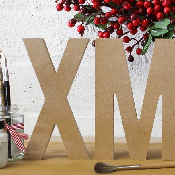 XMAS unpainted letters, Simplicity