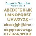 Sassoon Sans Wooden Letters Full Alphabet Set Giant - 16cms