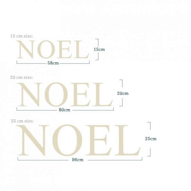 Christmas Letters.Elegant Carved Noel Christmas Letters