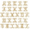 Painted Single Monogram Letters