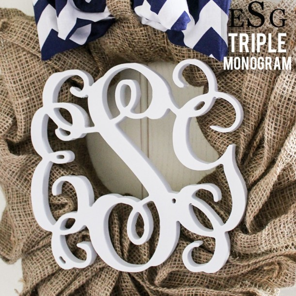 Triple Monogram Letters - Painted