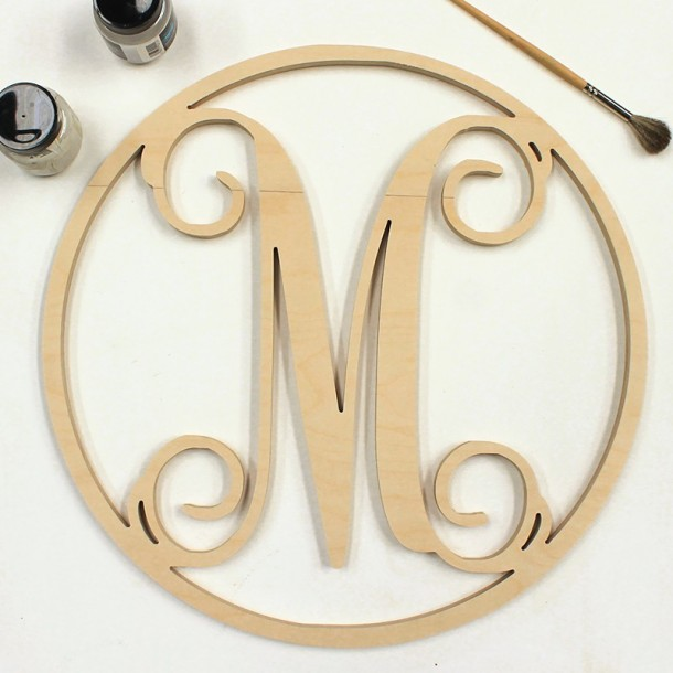 Unpainted Single Framed Monogram