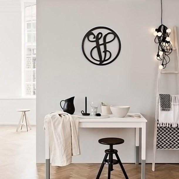 Single Framed Monogram - Painted
