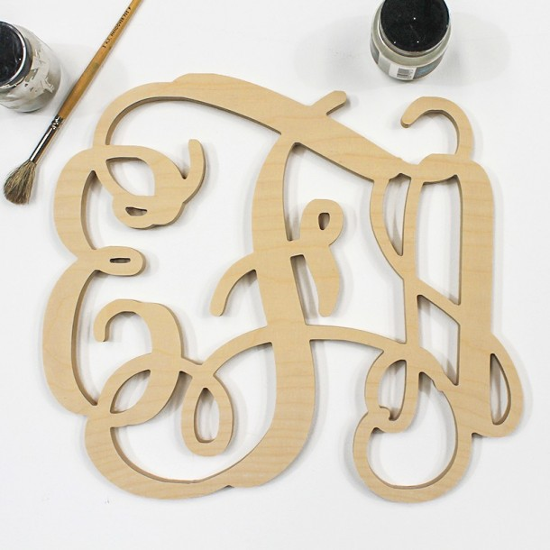 Triple Monogram Letters - Unpainted