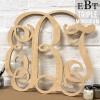 Triple Monogram Letters - Unpainted