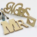 Mixed Font Mr & Mrs Letters - Unpainted