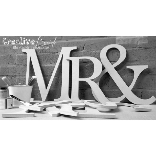 Giant Mr & Mrs Wooden letters - Unpainted