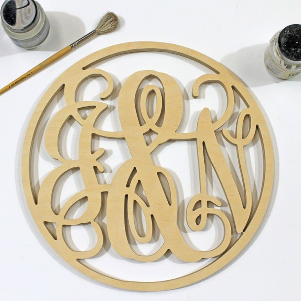 Triple Framed Monogram - Unpainted