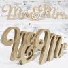 Script Mr & Mrs Letter Set - Unpainted