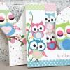 Pastel Owls Letters