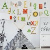 Lime, Orange, Yellow + Grey Alphabet Wooden Wall Letters Full Set