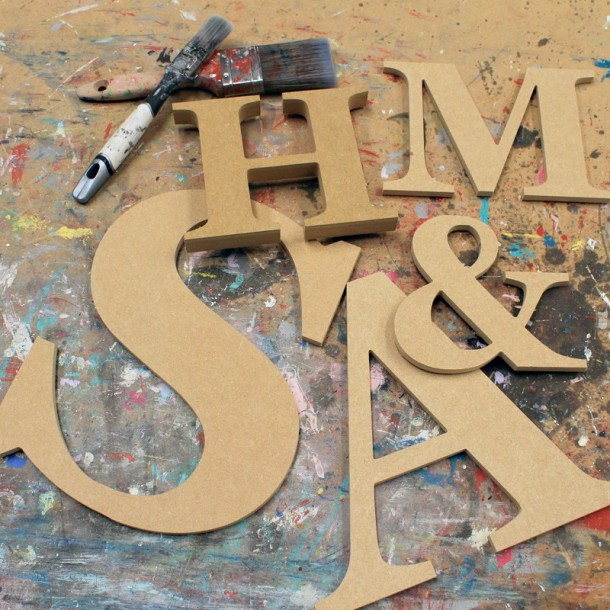 Classic Georgia Unpainted Mdf Wall Letters