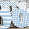 Pale Blue & White Wooden Letters