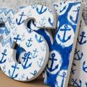 Watercolour Nautical Letters
