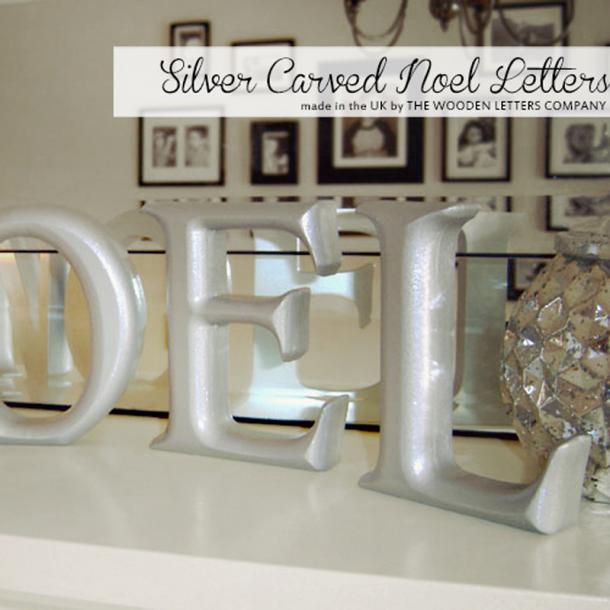 Silver NOEL letters
