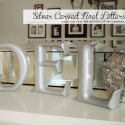 Silver Carved wooden NOEL letters.
