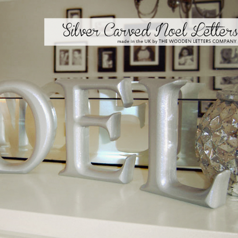 The Wooden Letters Company Painted Wooden Letters For Christmas
