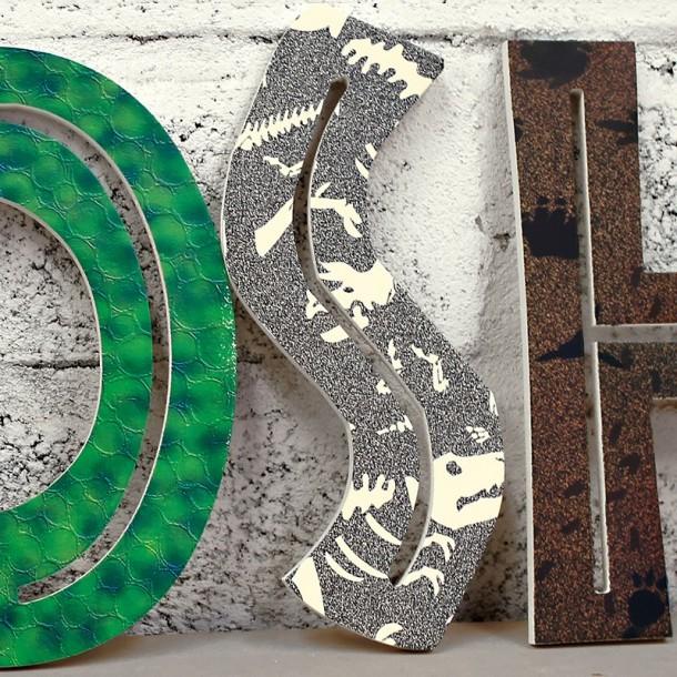 Jurassic Dinosaur Wooden Letters