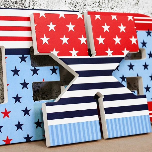 Stars & Stripes Wooden Letters