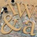 Times Roman Carved Unpainted Mdf Wall Letters