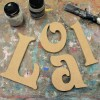 Victorian Unpainted Mdf Wall Letters