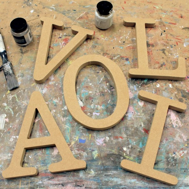 Typewriter Unpainted Mdf Wall Letters