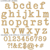 Vintage Typewriter Unpainted Mdf Wall Letters