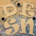 Funky font Unpainted Mdf Wall Letters