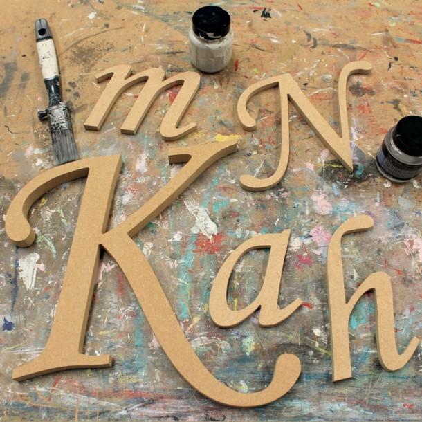 Corsiva Unpainted Mdf Wall Letters