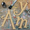 Twirly Unpainted Wooden Wall Letters