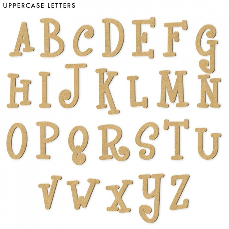 whimsical unpainted mdf wooden letters the wooden With whimsical wooden letters