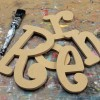 Whimsical Unpainted mdf Wooden Letters
