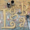 Curly Unpainted Mdf Wall Letters
