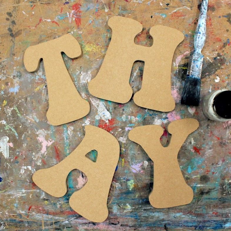 Groovy Unpainted Mdf Wall Letters - The Wooden Letters Company
