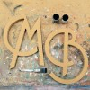 art deco mdf wooden letters