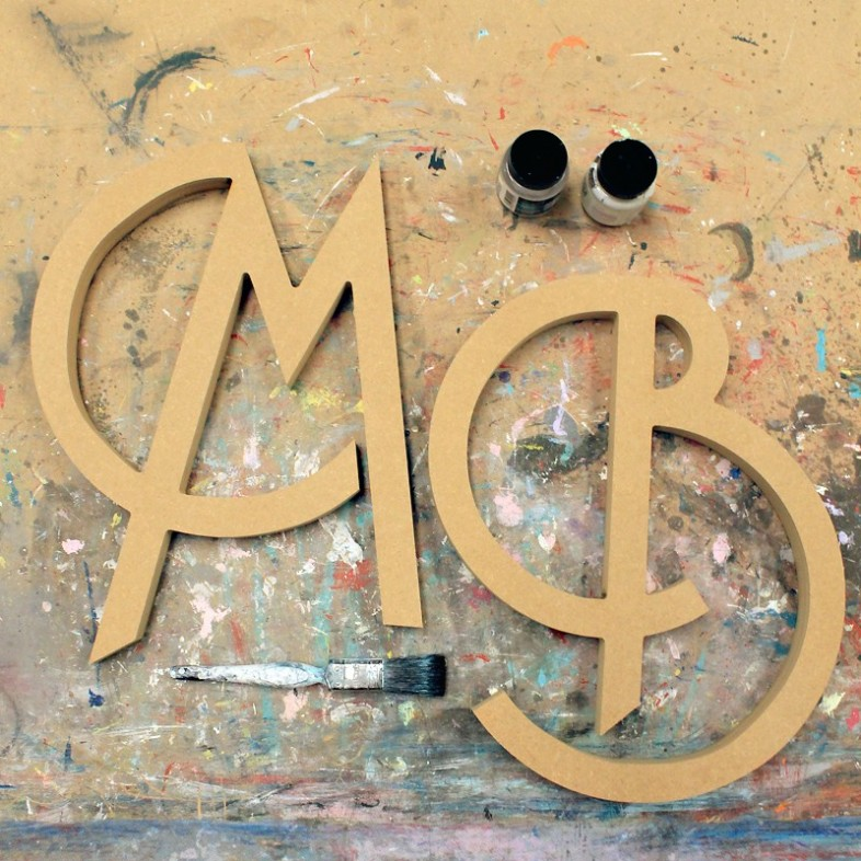 Art Deco Unpainted Mdf Wall Letters - The Wooden Letters Company