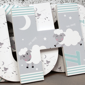 Counting Sheep Nursery Wall Letters